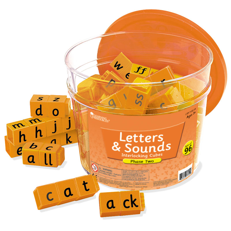 Letters & Sounds: Phase Two Interlocking Cubes - by Learning Resources - LSP7150-UK