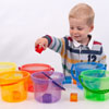 Translucent Colour Rainbow Bucket Set - Set of 6 - CD73101
