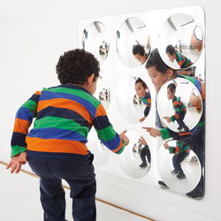 TickiT Giant 9-Domed Acrylic Mirror Panel - 780mm