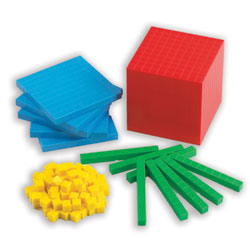 Base 10 Dienes Blocks Coloured Starter Set - Set of 121 Pieces