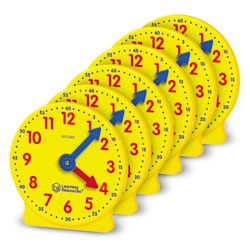 Big Time Geared Mini-Clocks - Set of 6