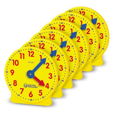 Big Time Geared Mini-Clocks - Set of 6 - LER2202