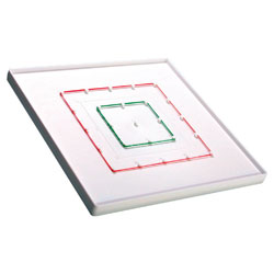 5 x 5 Pinboard (Geoboard) - Single - includes Elastic Bands