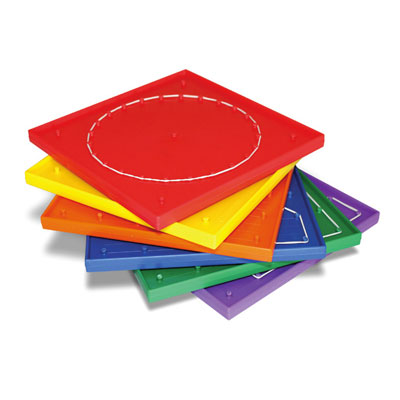 Multi-Coloured 6 x 6 Pinboards - includes Elastic Bands - Set of 6 - IP150959