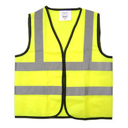 Children's Hi-Vis Waistcoat - Yellow - Medium (7-9 years)