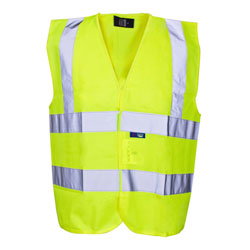 Children's Hi-Vis Waistcoat - Yellow - Large (10-12 years)