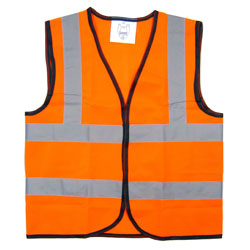 Children's Hi-Vis Waistcoat - Orange - Medium (7-9 years)