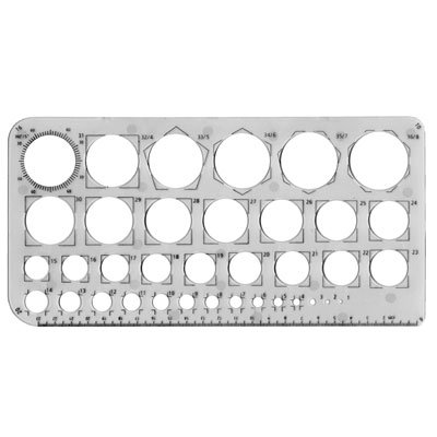 Circle Template Stencil - MB40016