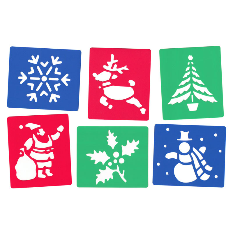 Christmas Stencils - Set of 6 - MB4004-6
