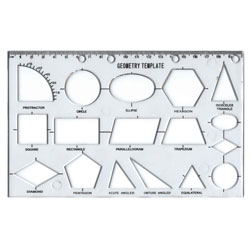 Geometry Template Stencil