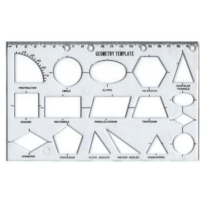 Geometry Template Stencil - MB40022