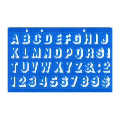 20mm Shadow Lettering Stencil - MB40026