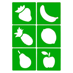 Fruit Stencils - Set of 6