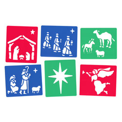 Nativity Stencils - Set of 6