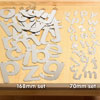 Mirror Letters 168mm - Set of 26 - CD72403