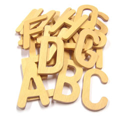Wooden Upper Case Letters - Set of 26