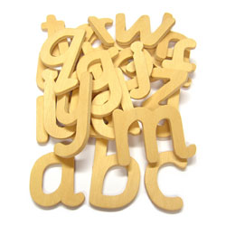Wooden Lower Case Letters - Set of 26