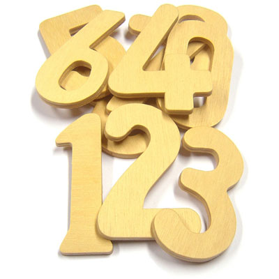 Wooden Numbers 0-9 - Set of 10 - MB1300-10
