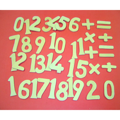 Wooden Numbers 0-20 & Symbols - Set of 42 - MB1301-42