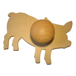 Wooden Farm Animal Templates - Set of 9
