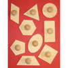 Wooden Geometry Templates - Set of 9 - MB1424-9