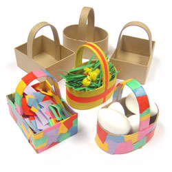 Paper Mache Baskets - Set of 6