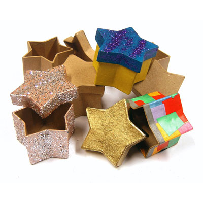 Star Paper Mache Boxes - Set of 10 - MB7074-10