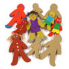 Paper Mache Gingerbread Men - Set of 10