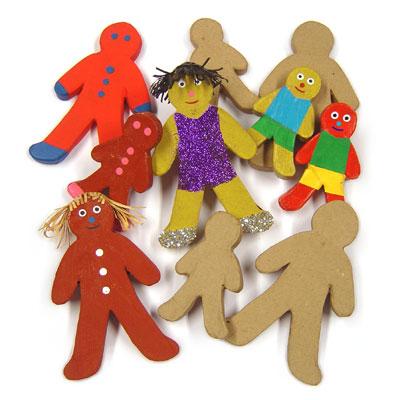 Paper Mache Gingerbread Men - Set of 10 - MB7075-10
