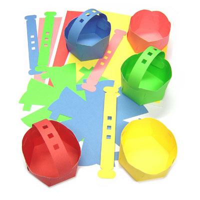 Paper Card Baskets - Set of 10 - MB7072-10