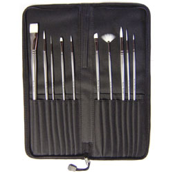 Watercolour Brush Set with Case - Set of 10