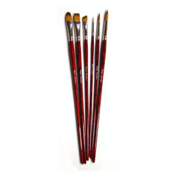 Acrylic Painting Brush Set - Set of 6