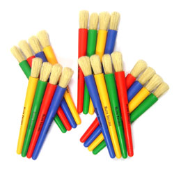 Junior Chubby Brush - Assorted Colours - Set of 20