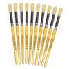 Hog Short Brushes: Round Tip, Size 14 - Pack of 10