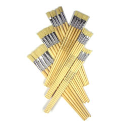 Hog Long Brushes: Flat Tip Mixed Set - Set of 60