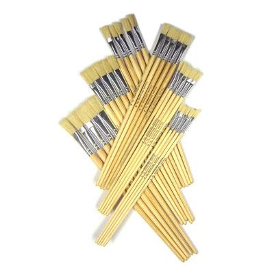Hog Long Brushes: Flat Tip Mixed Set - Set of 60 - MB563-60