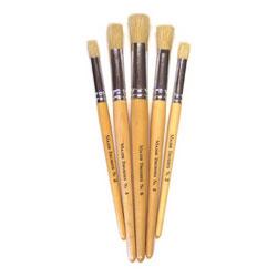 Hog Short Brushes: Flat Stencil Tip, Mixed Set - Set of 5