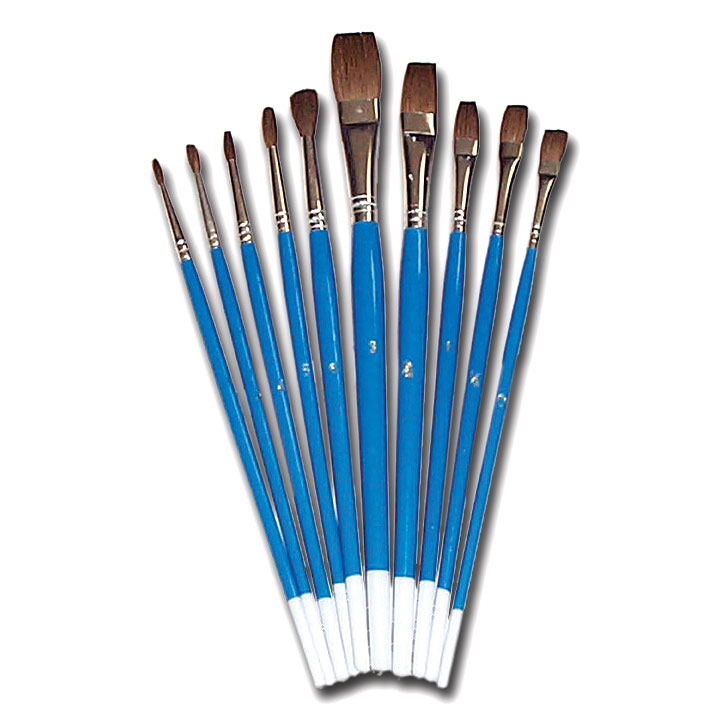 Watercolour Brush Set - Set of 10 - MB598FR