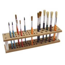 Wooden Brush Stand/Holder