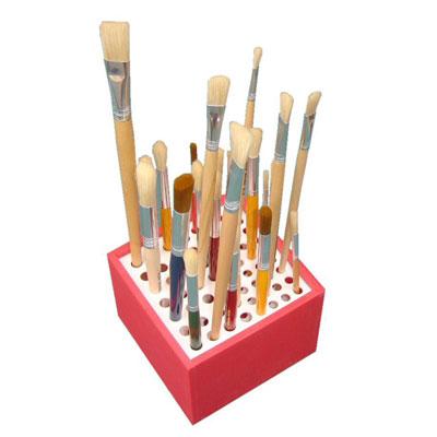 Plastic Brush Stand/Holder (Random Colour Supplied) - MB7028