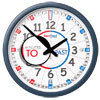 Easy Read Time Teacher Classroom Wall Clock - Past & To - 35cm Diameter - ERCC-EN