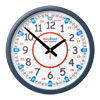 Easy Read Time Teacher Classroom Wall Clock - 24 Hour - 35cm Diameter