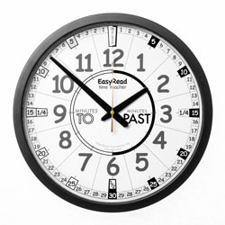 Easy Read Time Teacher Playground Clock - Past & To - 36cm Diameter
