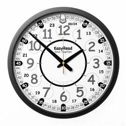 Easy Read Time Teacher Playground Clock - 24 Hour - 36cm Diameter