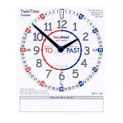 Easy Read Time Teacher TwinTime Teacher Card (32 x 39cm)
