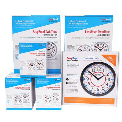 Easy Read Time Teacher Classroom 24 Hour Bundle - Large Set - CS24-L1