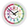 Easy Read Time Teacher Classroom Rainbow Face Wall Clock - Past & To - 35cm Diameter