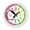 Easy Read Time Teacher Classroom Rainbow Face Wall Clock - Past & To - 35cm Diameter - ERCC-COL-PT