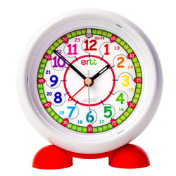 Easy Read Time Teacher Alarm Clock - Rainbow Face - 24 Hour