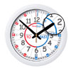Easy Read Time Teacher Home Classroom Red & Blue Face Wall Clock - Past & To - 29cm Diameter - ERMC-EN
